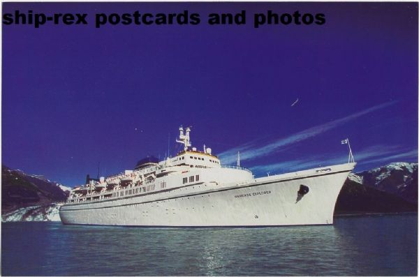 UNIVERSE EXPLORER (World Explorer Cruises) postcard